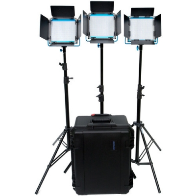 Kit Painéis Dracast LED500 S-Series Bi-Color LED com 4