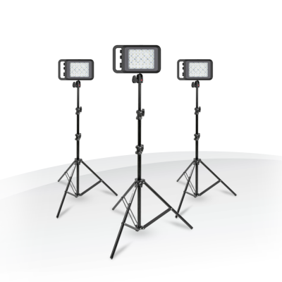 Kit com 3 Painéis de LED Bi-Color LYKOS Manfrotto/Litepanels  LED >93 CRI